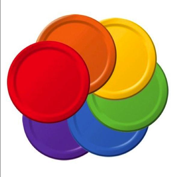 plain paper plates in rainbow colours 9\u2033(24)  sc 1 st  Bash & plain paper plates in rainbow colours 9\